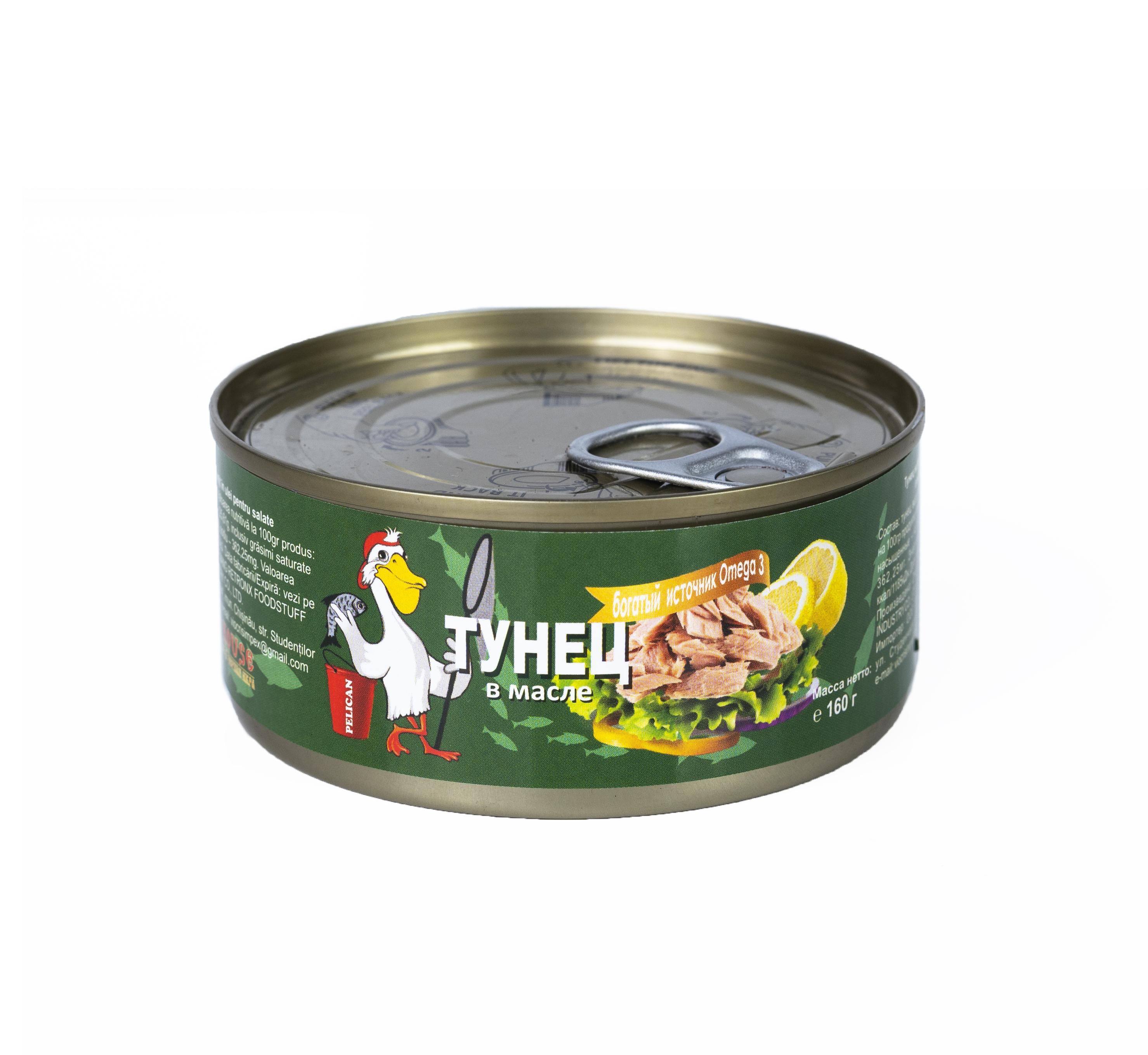 Ton p/u salate in ulei Pelican 160gr