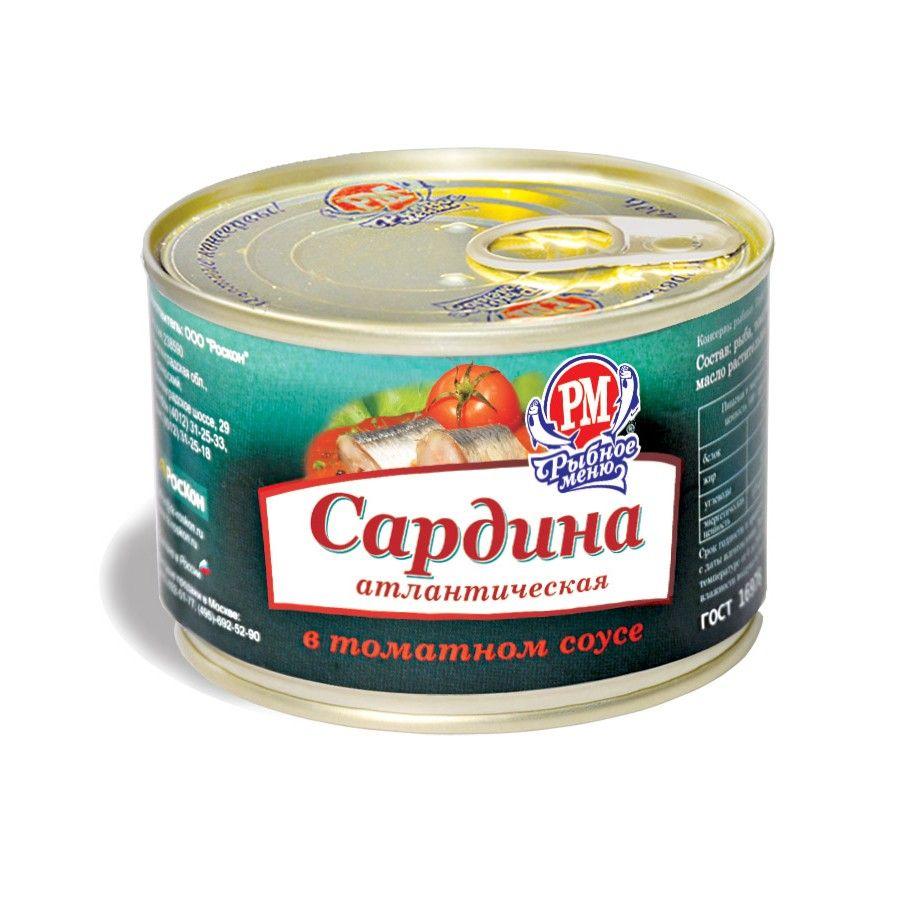 Cардина атлантическая в томатном соусе
