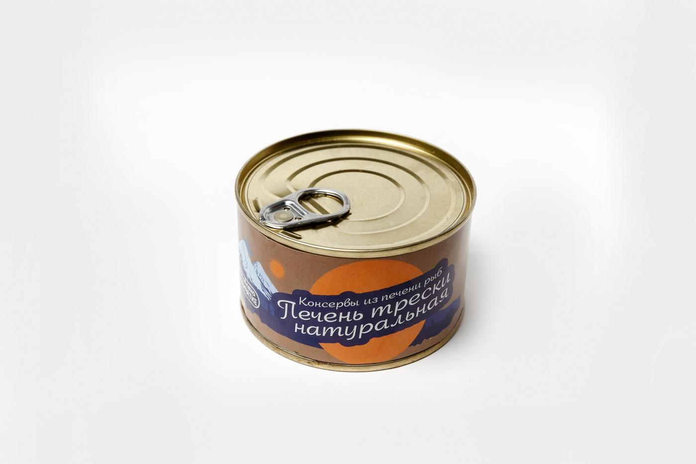Печень трески натуральная Камчаттралфлот