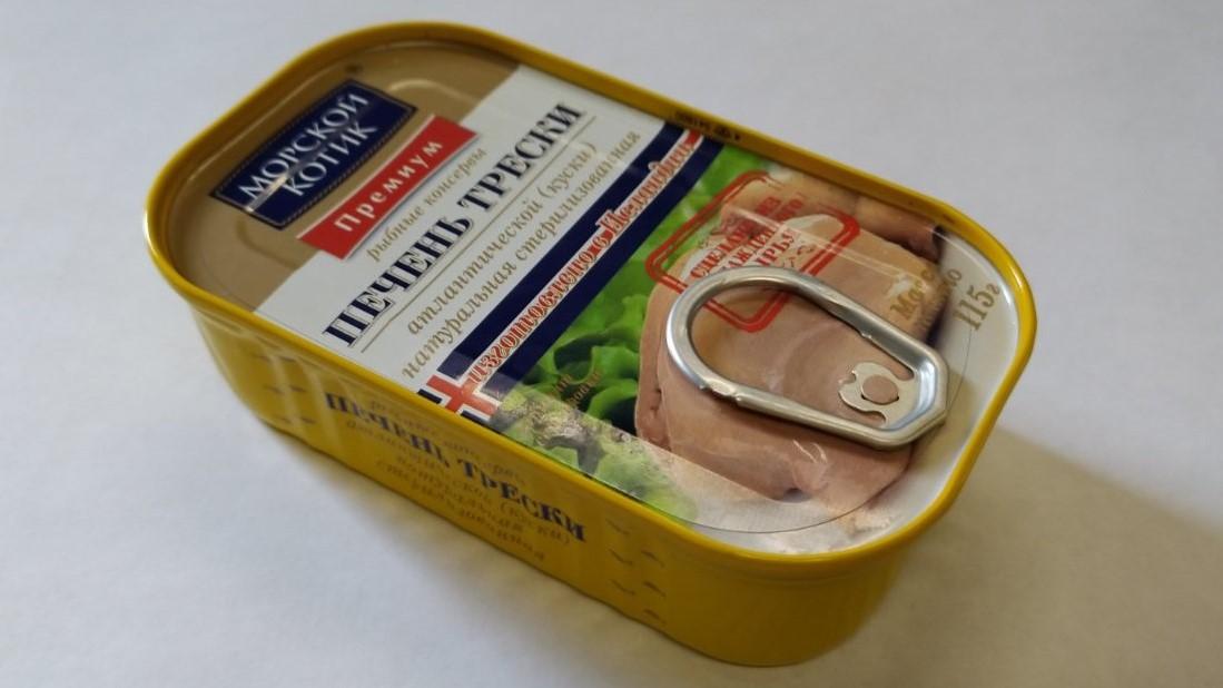 Печень трески 115 гр Морской котик