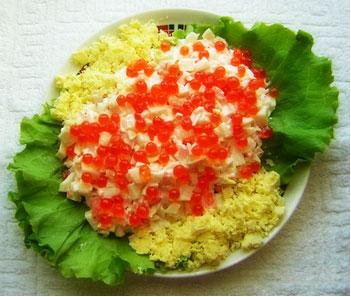 Salata cu icre roșii